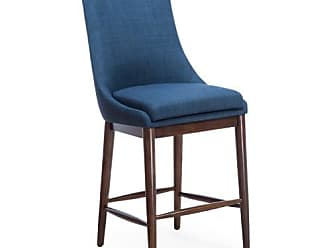 Belham Living Carter Mid Century Modern Upholstered Counter-Height Stool