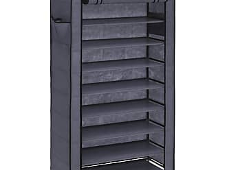 Best Choice Products 9-Tier Shoe Storage Cabinet Organizer DIY Shoe Rack - Gray