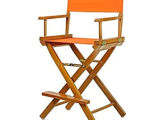 Yu Shan Casual Home 24 Directors Chair Honey Oak Frame-with Tangerine Canvas, Counter Height