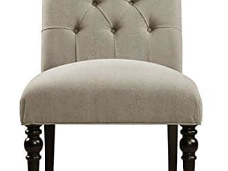 Home Meridian International Pulaski Upholstered Button Tufted Dining Chair, Gray Tucra Cloud Velvet