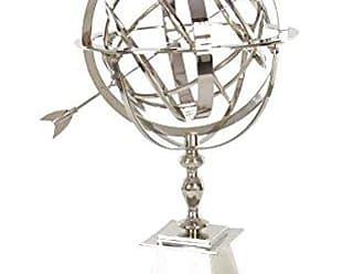 Deco 79 28524 Aluminum Armillary Sphere Sculpture, 30 x 42, Silver