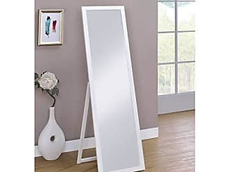 Ore International ORE International N266-WHITE Cottage Rectangular Standing Mirror, White