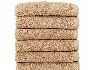 Linum Home Textiles Soft Twist Premium Authentic Soft 100% Turkish Cotton Luxury Hotel Collection Washcloth, Set of 6, Warm Sand