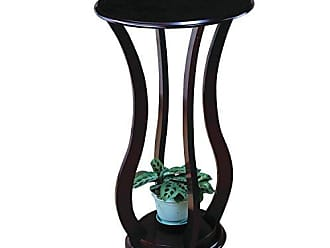 Coaster Round Plant Stand Table Cherry