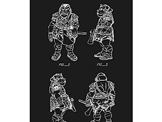 Inked and Screened SP_SYFI_277,206_BL_17_W Star Wars Characters: Gamorrean Guard Print, 11 x 17, Black Licorice-White Ink