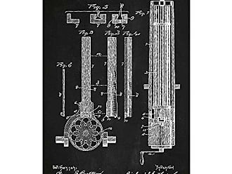 Inked and Screened SP_Milt_502,882_CH_17_W Feed for Magazine Guns Print, 11 x 17, Chalkboard-White Ink