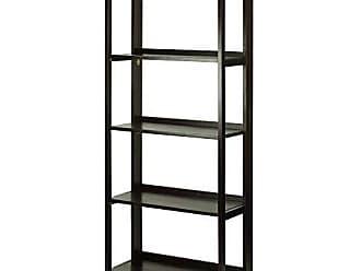 Yu Shan Casual Home 337-53 Stratford 5-Shelf Folding Bookcase-Espresso