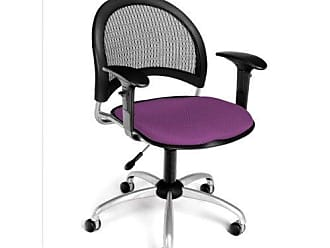 OFM 336-AA3-2214 Moon Swivel Chair with Arms, Plum