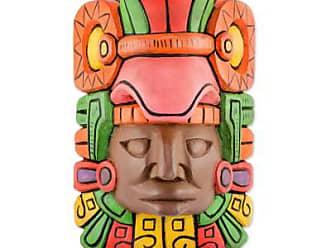 Novica Wood wall mask, Mayan King