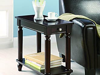 Coaster Home Furnishings Chairside Table with Lower Shelf Cappuccino