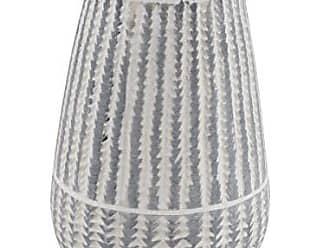 Deco 79 Modern Ceramic Vase 6 W x 10 H White, Black