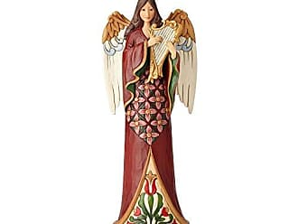 Enesco Jim Shore Heartwood Creek Tall Angel with Harp, Multicolor