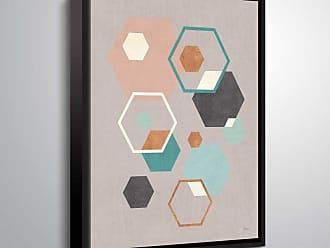 Brushstone Abstract Geo III Gray by Veronique Charron Framed Canvas - 2CHA113A0810F