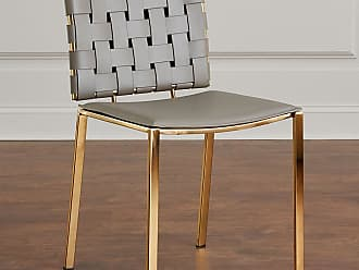 Interlude Home Kennedy Woven Leather Dining Chair