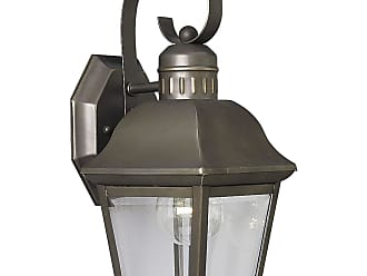 PROGRESS P5687-20 One-light wall lantern in Antique Bronze finish with clear beveled glass