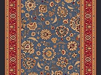 Milliken Carpet Pastiche Collection Aydin Square Area Rug, 77 x 77, Moor blue