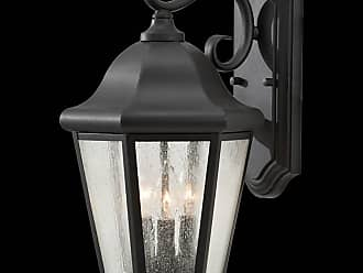 Feiss OL5902BK Martinsville Wall Lanterns in Black finish with Clear Seeded Glass