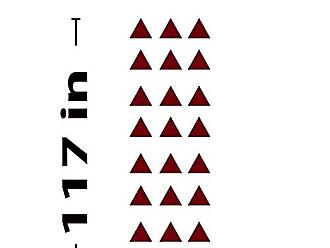 The Decal Guru Triangle Design Wall Decal (Burgundy, 117 (H) X 37 (W))
