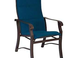 Woodard Outdoor Woodard Cortland Padded Sling High-Back Dining Chair, Patio Furniture - 42H526