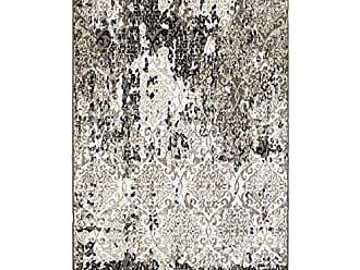 L.R. Resources Inc. MATRI81192WBN7995 Matrix LR81192-WBN7995 White/Brown Rectangle 7 x 9 ft 5 in Indoor Area Rug, 79 x 95