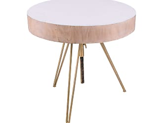 Dimond Home Biarritz Suar Wood Accent Table With Gold Metal Legs