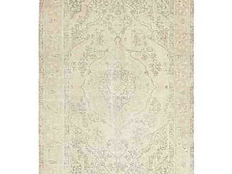 Solo Rugs M1841-414 Vintage Hand Knotted Area Rug, 6 7 x 9 7, Ivory