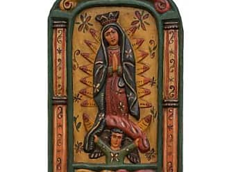 Novica Wood relief panel, Virgin of Guadalupe Blessings