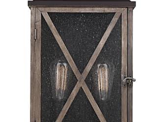 Feiss Lumiere´ 2 Bulb Dark Weathered Oak / Oil Rubbed Bronze Outdoor Lantern