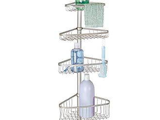 10afa0f72f2 InterDesign York Metal Wire Tension Rod Corner Shower Caddy