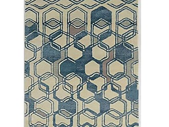 Linon Linon Collection Aspire Wool Triangle Lighy Blue/Off-whitee 8x11 8X 11