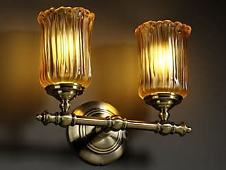 Justice Design Veneto Luce Tradition GLA-8522-16 Vanity Light Bar Amber - GLA-8522-16-AMBR-CROM