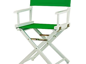 Yu Shan Casual Home 18 Directors Chair White Frame with Green Canvas