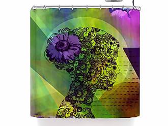 Kess InHouse Alyzen Moonshadow Musical TENDRILS Purple Multicolor Shower Curtain 69 by 70