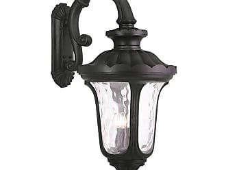 Livex Lighting 78701 Oxford 4 Light Outdoor Lantern Wall Sconce Black