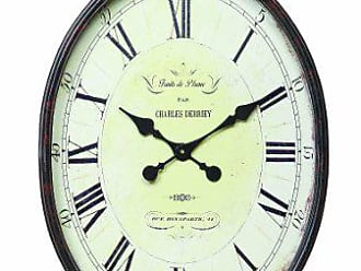 Creative Co-op Turn of The Century Style Metal and Wood Wall Clock