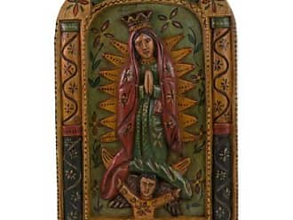 Novica Wood relief panel, The Virgin of Guadalupe