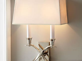 Visual Comfort Cross Bouillotte Small Polished-Nickel Sconce