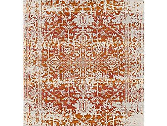 Surya Janine Orange and Beige Updated Traditional Area Rug 93 x 126