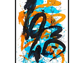 Ptm Images Flow 3 Framed Canvas Wall Art - 9-110634