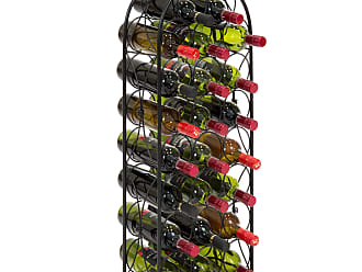 Best Choice Products 23-Bottle Metal Wine Rack Stand - Black