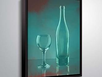 Brushstone Glassware by Scott Medwetz Framed Canvas - 0MED846A0810F