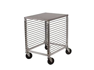 Winco USA Winco ALRK-15 15-Tier Aluminum Sheet Pan Rack with Hard Top and Wire Slides