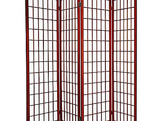 Ore International ORE International 4-Panel Room Divider, Cherry