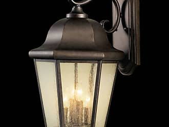 Feiss OL5904CB Martinsville Outdoor Lantern - Wall Mount in Corinthian Bronze finish with Clear Seeded Glass