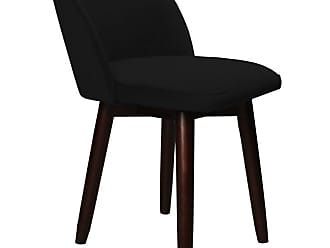 SOUTH CONE Nicoletta Upholstered Dining Parson Chair with Swivel Espresso - NICOLCH/WAL/ESPRESSO