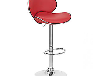 Vandue Kappa Contemporary Adjustable Barstool - Cherry Red