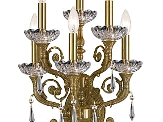 Crystorama 5176-AG-CL-S Solid Brass Strass Crystal Wall Sconce