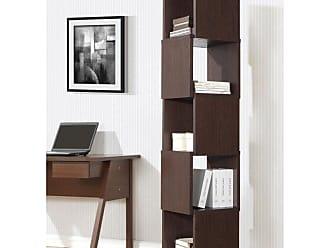 Baxton Studio Ogden 5-Level Rotating Modern Bookshelf - Dark Brown - WI4891