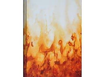 ArtWall Shiela Gosselin Amber Flame Gallery-Wrapped Canvas Artwork, 18 by 24-Inch