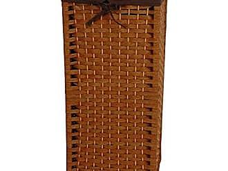 Oriental Furniture 28 Natural Fiber Laundry Hamper - Honey